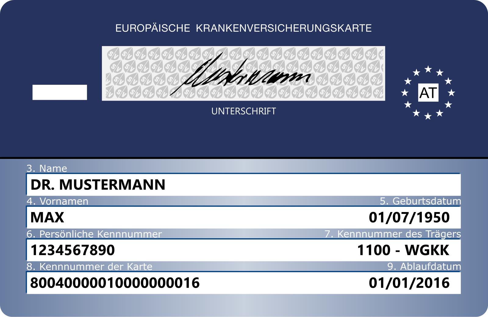 European Health Insurance Card - EHIC
